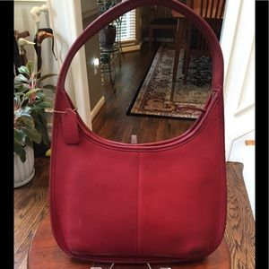 Vintage wine colored Coach leather bag